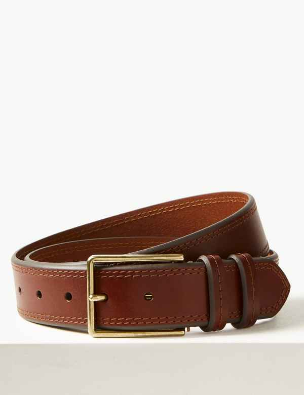 1824e77c2 Leather Stitch Detail Casual Belt