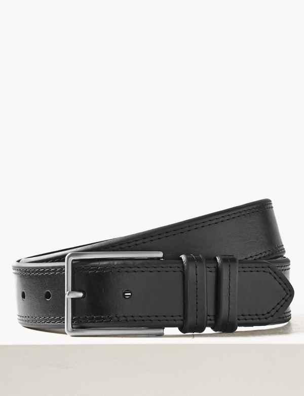 2f28a867746b Leather Stitch Detail Casual Belt