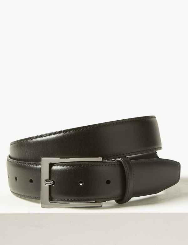d4aa2fd8fc41 Leather Active Waistband Smart Belt. New