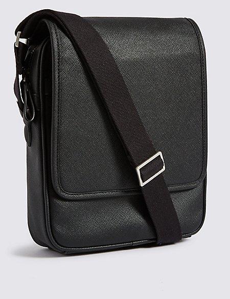 Textured Saffiano Cross Body Bag