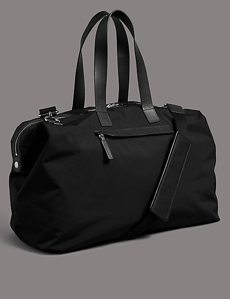 Holdall with Leather Trim