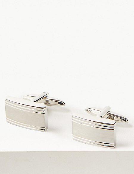 Textured Rectangle Cufflinks