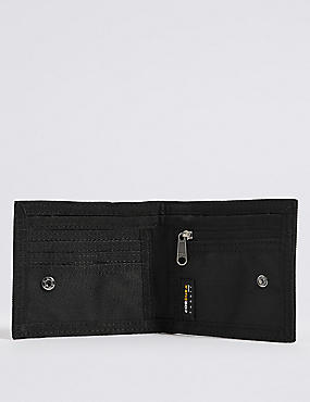 Scuff Resistant Cordura® Bi Fold Coin Wallet With Cardsafe™