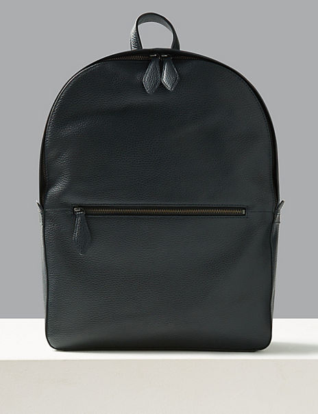 Pebble Grain Leather Backpack