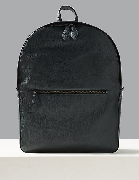 Pebble Grain Leather Rucksack