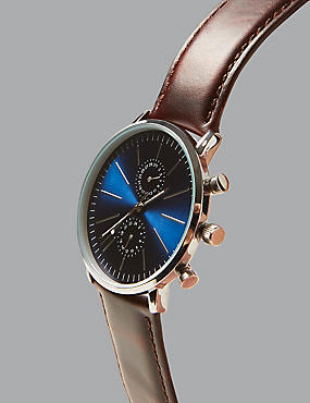 Leather Modern Watch
