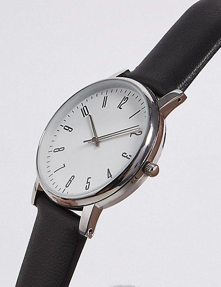 Round Face Analog Modern Watch