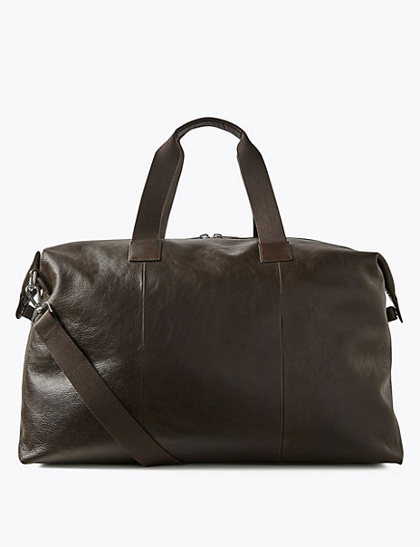 Casual Leather Large Holdall
