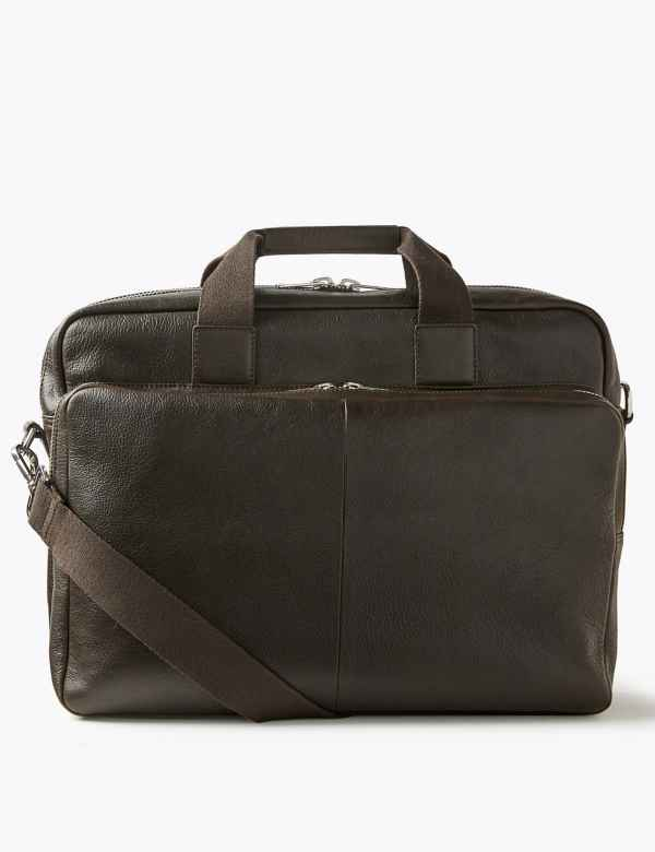 Casual Leather Briefcase b669086fba6c7