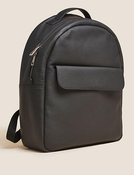 Leather Pocket Backpack