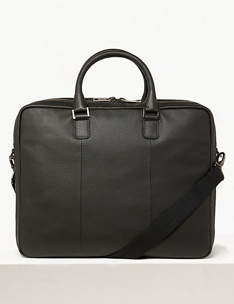 Leather Double Briefcase