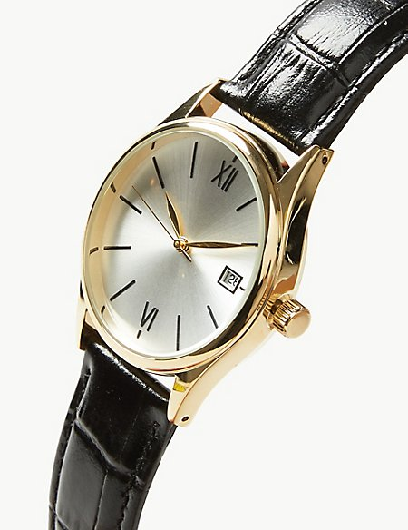 Classic Roman Date Watch