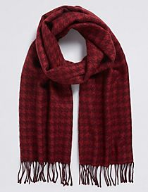 Men's Dogtooth Woven Scarf