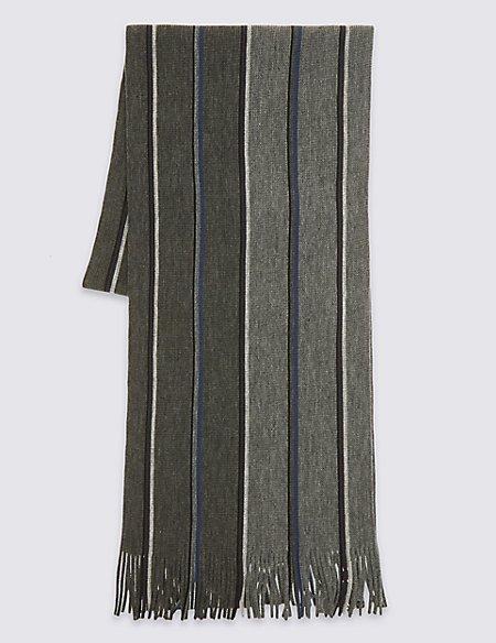 Striped Raschel Scarf