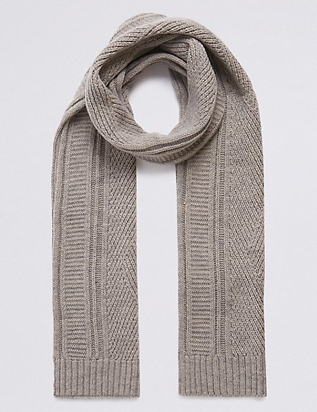 Cable Knitted Scarf