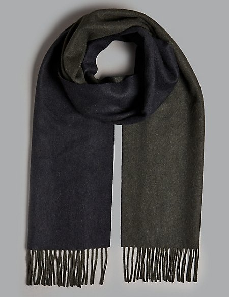 Pure Cashmere Reversible Scarf