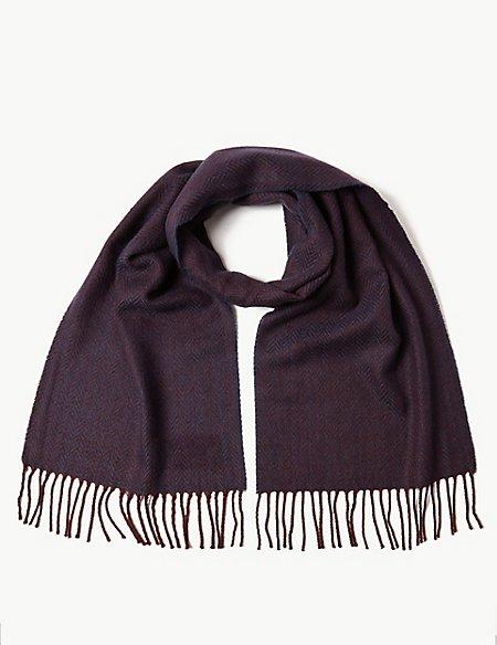 Herringbone Scarf with Wool