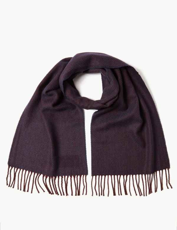 Herringbone Scarf with Wool. M S Collection a675952806f3