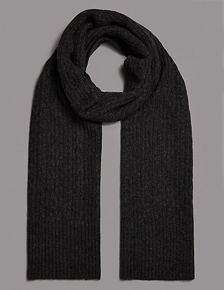 Pure Cashmere Cable Scarf