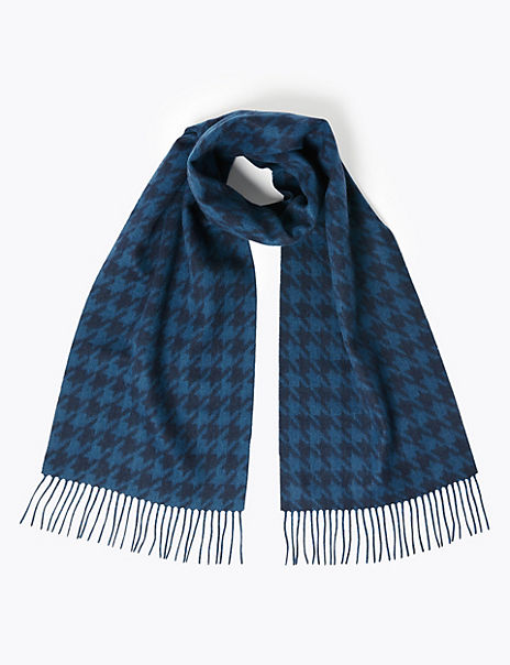 Cashmere Dogstooth Scarf