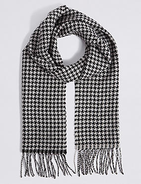 Dogstooth Woven Scarf