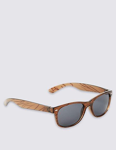 Wood Grain Retro Sunglasses