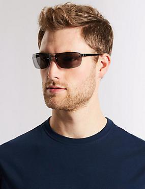 Semi Rimless Sunglasses