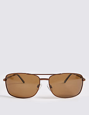 Polarised Rectangular Sunglasses