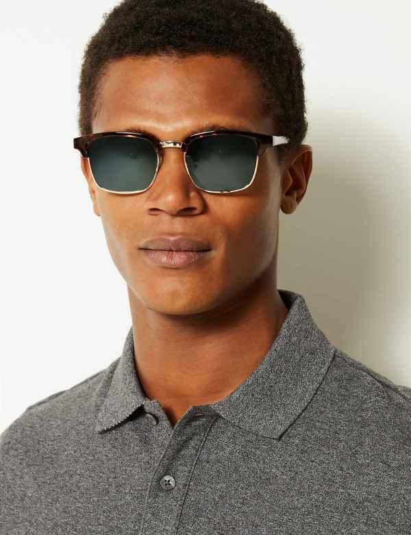 52dcfd060dac Mens Sunglasses | Round & Rectangular Frame Sunglasses | M&S
