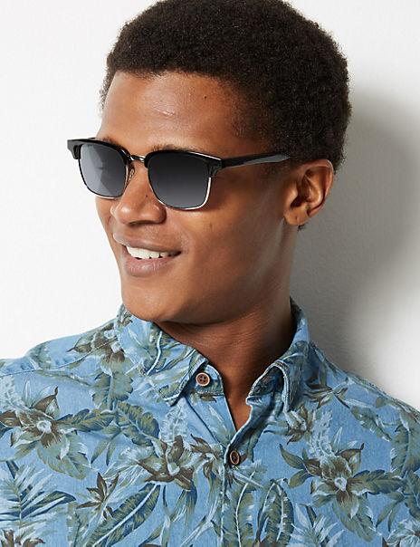 Polarised Retro Square Sunglasses