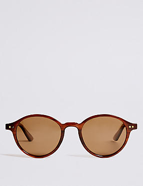 Polarised Classic Round Sunglasses