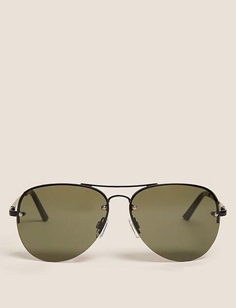 Rimless Aviator Sunglasses
