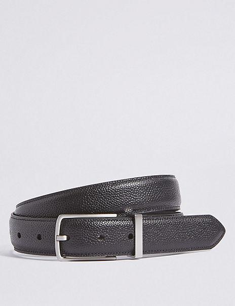 Leather Rectangular Buckle Smart Belt
