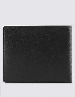 Smooth Leather Bi Fold Wallet