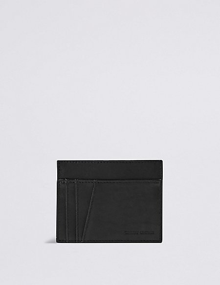 Genuine Leather Zipped Card Wallet