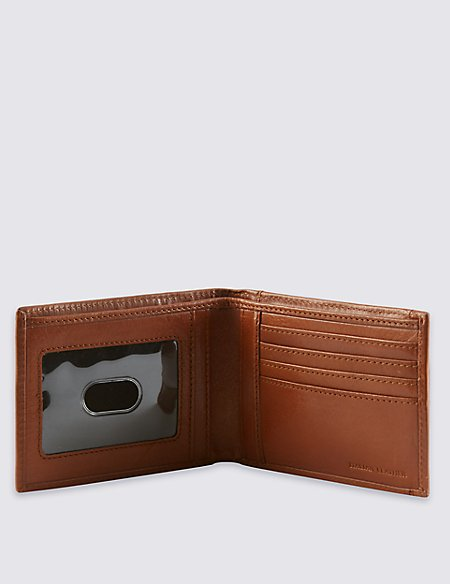 Leather Bifold ID Wallet with Cardsafe™