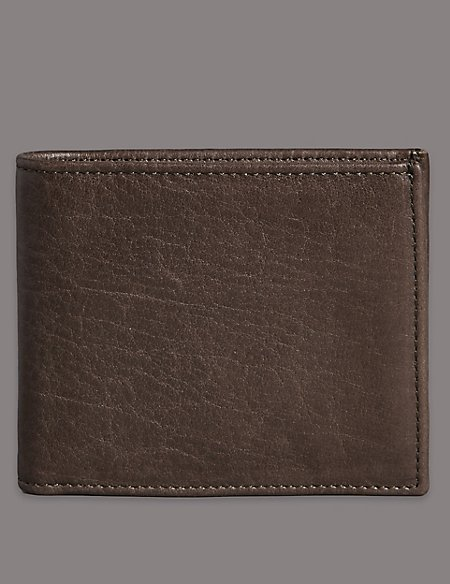 Heavy Grain Leather Bifold Wallet with Cardsafe™