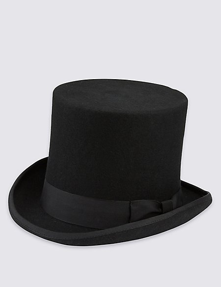 Pure Wool Top Hat