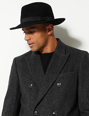Pure Wool Fedora with Stormwear™
