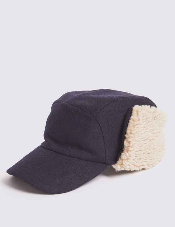Baseball Cap with Wool. M S Collection d826f594c95