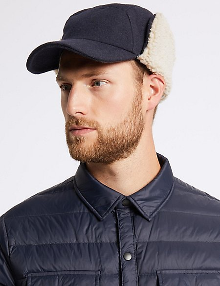 Baseball Cap with Wool