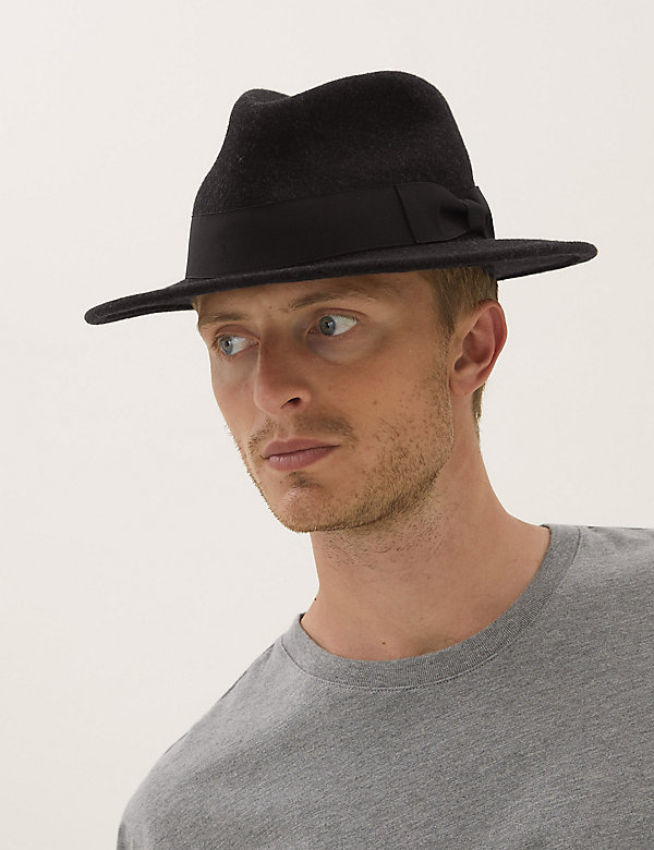 Wool Fedora Hat with Stormwear™