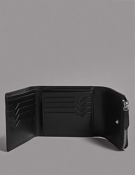 Leather Tri-fold Wallet with Cardsafe™