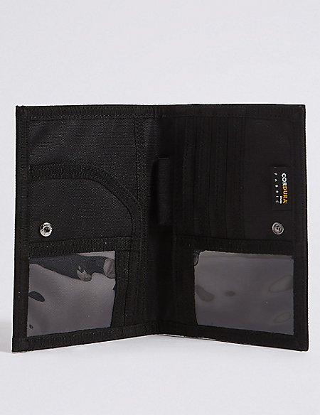 Large Popper Bi Fold Travel Wallet with Cardsafe™
