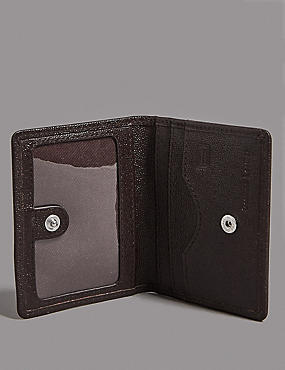 Leather Micro Pebble Wallet with Cardsafe™