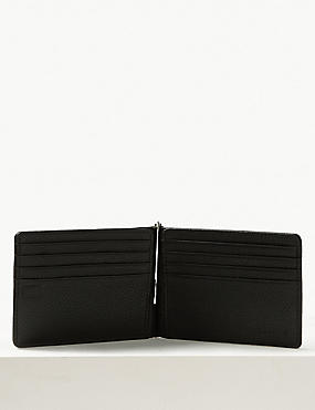Leather Bi Fold Wallet with Cardsafe™