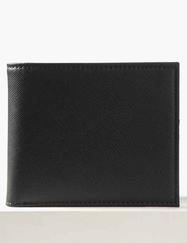 Mens Black Or Brown Leather Wallet Credit Card Holder Personalised Father Dad Uk Clothes, Shoes & Accessories