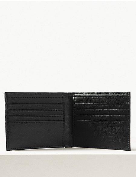 Faux Leather Bi Fold Wallet