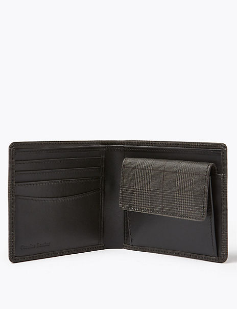 Checked Bi-Fold Wallet with Cardsafe™