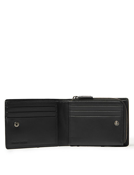 Leather Zip Wallet with Cardsafe™